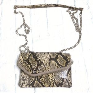 Hobo NWOT snake pattern leather crossbody, clutch
